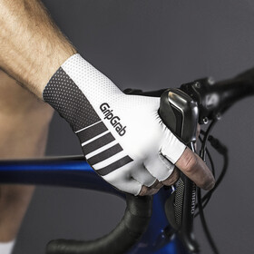 GripGrab Aero TT Raceday guanti senza dita, white/black